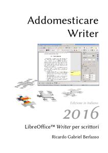 Addomesticare Writer